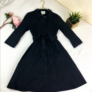 Kate Spade black belted shirt dress sz 12